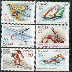 6 عدد تمبر ورزشی - لهستان 1986