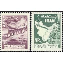 1065 - تمبر افتتاح راه آهن تهران - تبریز 1337 تک