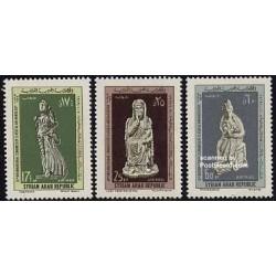 3 عدد تمبر کنگره باستانشناسی - سوریه 1969