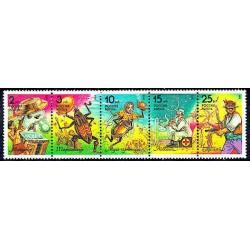 5 عدد تمبر کتابهای کودکان - روسیه 1993