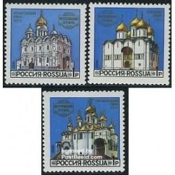 3 عدد تمبر کلیساهای کرملین - روسیه 1992
