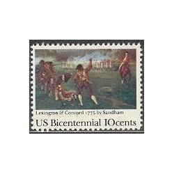 1 عدد تمبر دویستمین سالگرد استقلال آمریکا - آمریکا 1975