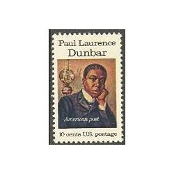 1 عدد تمبر پائول لارنس دانبر - رمان نویس و نمایشنامه نویس - آمریکا 1975