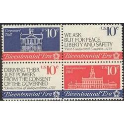 4 عدد تمبر استقلال - آمریکا 1974