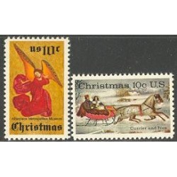 2 عدد تمبر کریستمس - آمریکا 1974