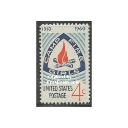 1 عدد تمبر کمپ دختران آتش نشان - آمریکا 1960