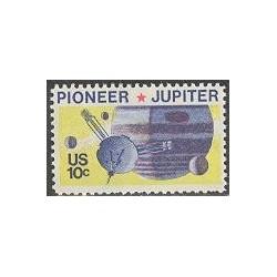 1 عدد تمبر سیاره مشتری - سفینه پایونیر - آمریکا 1975