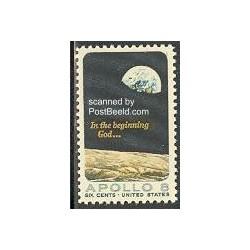 1 عدد تمبر آپولو 8 - آمریکا 1969