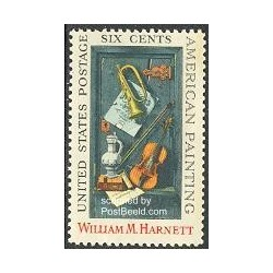 1 عدد تمبر تابلو نقاشی اثر ویلیام هارنت - آمریکا 1969