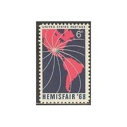 1 عدد تمبر نمایشگاه Hemisfair - آمریکا 1968