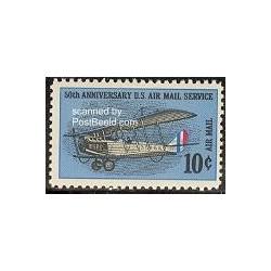 1 عدد تمبر سرویس پست هوائی ایالات متحده - آمریکا 1968