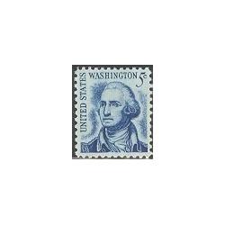 1 عدد تمبر سری پستی - جرج واشنگتن - آمریکا 1967