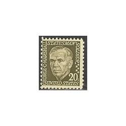 1 عدد تمبر جرج مارشال - آمریکا 1967