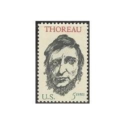 1 عدد تمبر هنری دیوید تورو - فیلسوف آنارشیست - آمریکا 1967