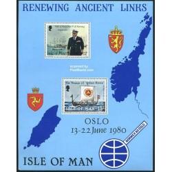 سونیرشیت بازدید پادشاه اولاف - کشتی - جزیره من 1980