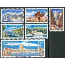 6 عدد تمبر توریسم - رومانی 1971