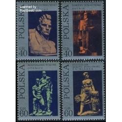 4 عدد تمبر پیکره ها - لهستان 1971