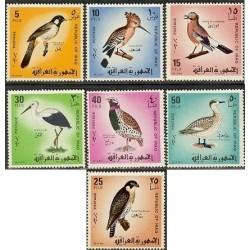 7 عدد تمبر پرندگان - عراق 1968