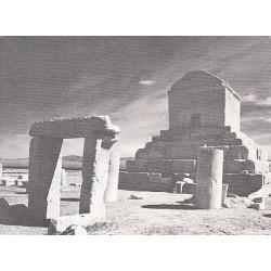 کارت پستال دهه 40 - آرامگاه کوروش در پاسارگاد