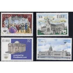 4 عدد تمبر دوبلین پایتخت فرهنگی اروپا - ایرلند 1991