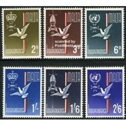 6 عدد تمبر استقلال - مالت 1964