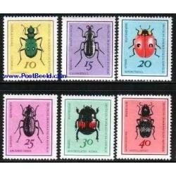 6 عدد تمبر سوسکها - جمهوری دموکراتیک آلمان 1968