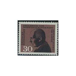 1 عدد تمبر بیمارستان بتل - جمهوری فدرال آلمان 1967