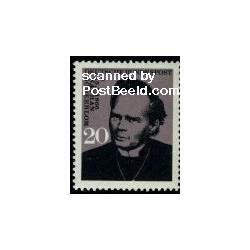 1 عدد تمبر نیتن زودربلوم - برنده جایزه صلح نوبل - جمهوری فدرال آلمان 1966