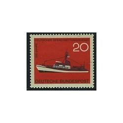 1 عدد تمبر سرویس حفاظت از حیات دریائی - کشتی - جمهوری فدرال آلمان 1965