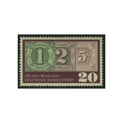 1 عدد تمبر 125 امین سال تمبر - جمهوری فدرال آلمان 1965