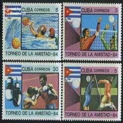 4 عدد تمبر بازیهای دوستانه - کوبا 1984