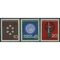 3 عدد تمبر علم و تکنولوژی - جمهوری فدرال آلمان 1964