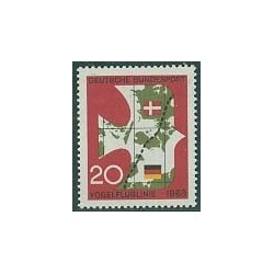 1 عدد تمبر قایق عبور به دانمارک - جمهوری فدرال آلمان 1963