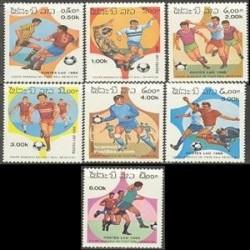 7 عدد تمبر جام جهانی فوتبال مکزیو - لائوس 1986