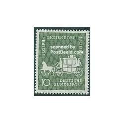 1 عدد تمبر جوزف فون اشندورف - شاعر و رمان نویس - جمهوری فدرال آلمان 1957