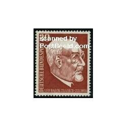1 عدد تمبر لئو بائک - خاخام آلمانی - جمهوری فدرال آلمان 1957