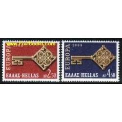2 عدد تمبر مشترک اروپا - Europa Cept - یونان 1968