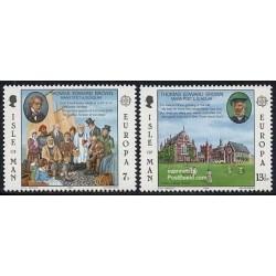 2 عدد تمبر مشترک اروپا - Europa Cept - جزیره من 1980
