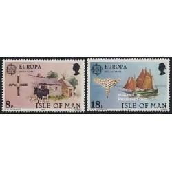 2 عدد تمبر مشترک اروپا - Europa Cept - آداب و رسوم - جزیره من 1981