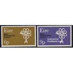 2 عدد تمبر سال حفاظت از طبیعت اروپائی - ایرلند 1970