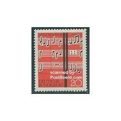 1 عدد تمبر فستیوال موسیقی - جمهوری فدرال آلمان 1962