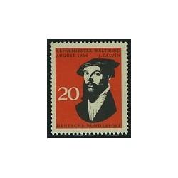 1 عدد تمبر کنگره اصلاحات - ژان کالون - جمهوری فدرال آلمان 1964