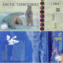 اسکناس پلیمر 1.5 دلار - قطب شمال 2014