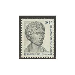 1 عدد تمبر فردریش گیلی - معمار - برلین آلمان 1972