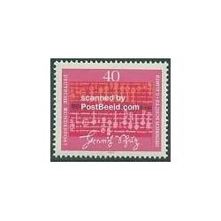 1 عدد تمبر هنریش شوتز - آهنگساز - جمهوری فدرال آلمان 1972