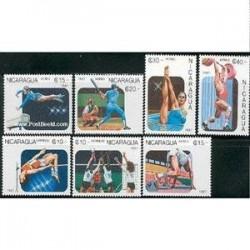 7 عدد تمبر بازیهای پان آمریکن - نیکاراگوئه 1997