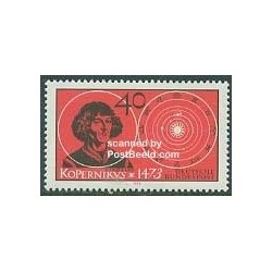 1 عدد تمبر کوپرنیک - ستاره شناس ، ریاضی دان - جمهوری فدرال آلمان 1973