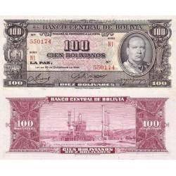 اسکناس 100 بولیوانوس (10 بولیوار) - بولیوی 1945