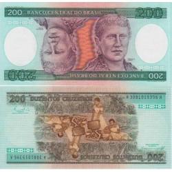 اسکناس 200 کروزادوس - برزیل 1981
