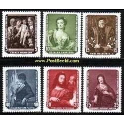 6 عدد تمبر تابلو نقاشی اثر نقاشانی چون رامبراند - جمهوری دموکراتیک آلمان 1957